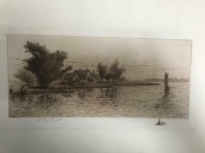 SIGNED AMOS SANGSTER ANTIQUE ETCHING FROM Limited Remarque Edition' set of N.F.
