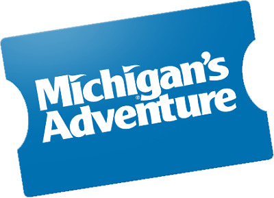 2 MICHIGAN'S ADVENTURE THEME PARK TICKETS - Adult or Child - Muskegon, MI