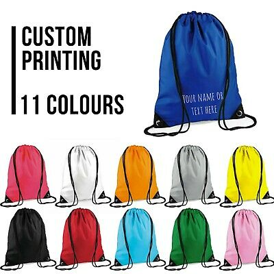 Precise Personalised Drawstring Bag Any Name Dog Swimming School Nursery Pe Kids' Clothing, Shoes & Accs Backpacks & Bags