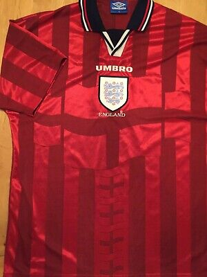 England football shirt 1998 world cup home men's size xl excellent condition