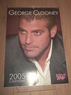 George Clooney 2005 Calendar (Tv Times) Excellent Condition