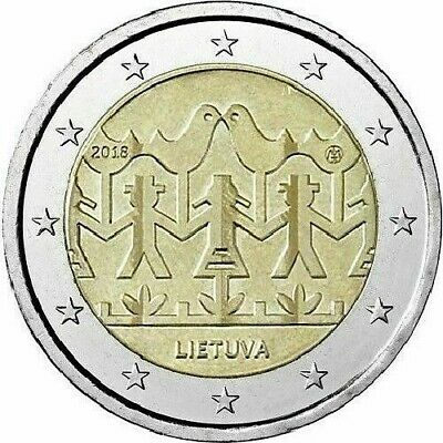 """LITHUANIA commemorative 2 EURO coin 2018 - """"Song and Dance Festival"""" - UNC"""