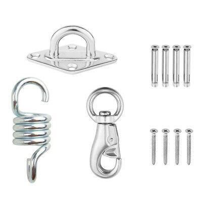 Hammock Chair Fixing Hanging Kit Chair Hardware Swivel Snap Hook Ceiling Mount Spring Swing Hook Kit Accessories