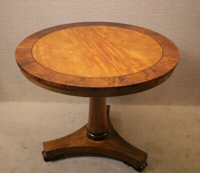 Attractive Rosewood and Mahogany Round Regency Parlor Table center table