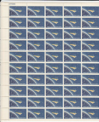 #1193 - 4¢ Project Mercury Issue, MNH Sheet of 50 FV $2.00