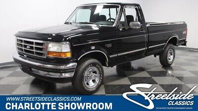 1993 Ford F-150 XLT 4X4 classic chrome black gray 4 wheel drive fuel injection fomoco great condition