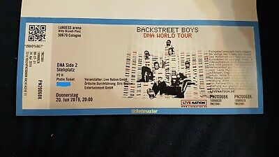 Backstreet Boys 1 Ticket Köln DNA SIDE 2 Platin Ticket , Stehplatz P2 H