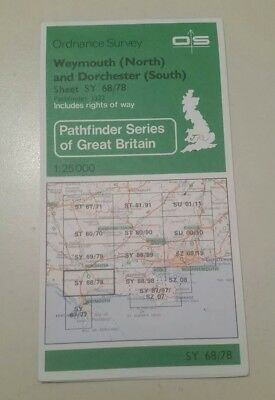 Ordnance Survey Pathfinder Map SY68/78 Weymouth North And Dorchester South   F1