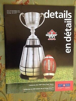 2012 Grey Cup 100 Canada Post Booklet CFL Stamp Guide