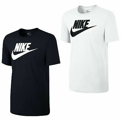 New Mens Nike T-Shirt Fotura Gym Sports Nike Logo Top Crew Neck Tee S M L XL