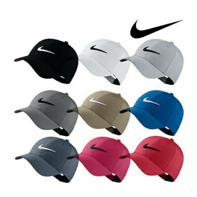 competitive price 40007 01db6 Adult Nike Golf Hat Legacy91 Dri Fit Tech Logo Cap Hat Black Red Navy Gray