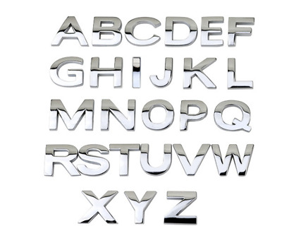 Top Quality Car Auto 3D Chrome Letters or Numbers Emblem Badge Sticker 0.98In