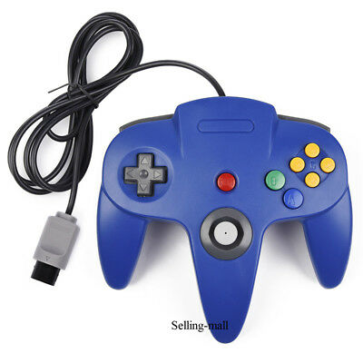 N64 Controller Joystick Gamepad Long Wired for classic Nintendo 64 Console Games