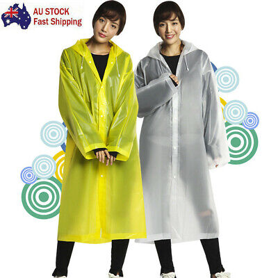 Raincoat Rain Poncho Transparent Hoodie Waterproof Portable Adult Non-disposable