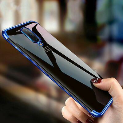 For OnePlus 7 7 Pro Luxury Plating Ultra-thin Clear Soft TPU Silicone Case Cover
