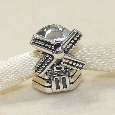 cf6d53ab3 New Authentic Pandora Charm Windmill 791297 Bead W Tag & Suede Pouch