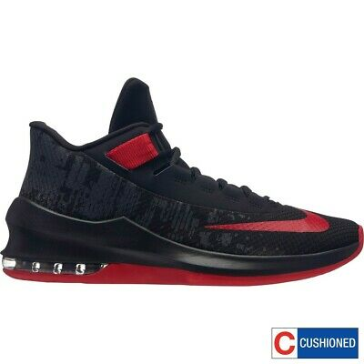 cdfb4d8e2e75 Nike AIR MAX INFURIATE 2 MID Mens Black Red AA7066-066 Basketball Shoes