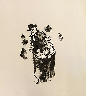 Abraham Rattner Hand Signed And Numbered Original Lithograph On Paper