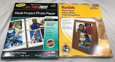 "Lot (234) Sheets 8.5"" X 11"" Glossy Photo Paper Kodak Instant Dry & Hammermill"