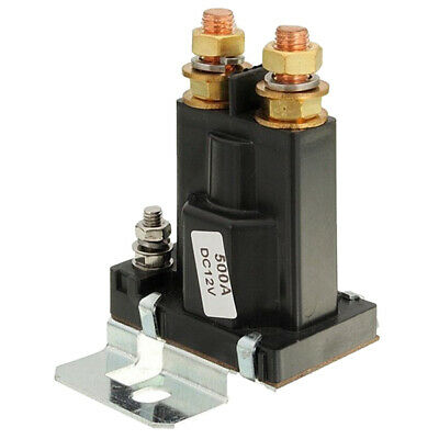 Dual Battery Isolator Relay Start On/Off 4 Pin 500A 12V For Car Power Switc W7U6