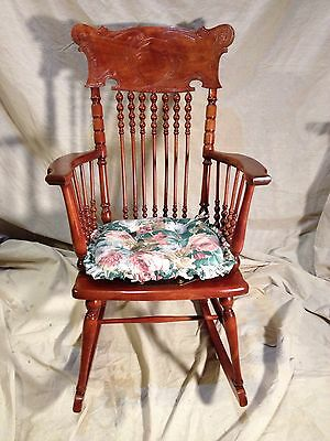Antique Solid Cherry Rocking Chair Converted Seat Virginia Local pickup MAKEOFFR