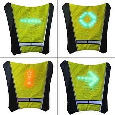 Led Wireless Cycling Vest Safety Led Turn Signal Light Bike Bag Safety Turn Signal Light Vest Bicycle Reflective Warning Vests Bicycle Accessories