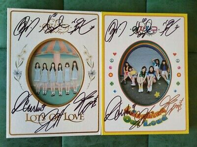 hand signed GFRIEND autographed LOL LOTS OF LOVE random version+signed photo