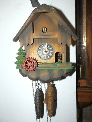 Cuckoo Clock 1950 - 1970 With Music Box And Automat For A Easy Restauration