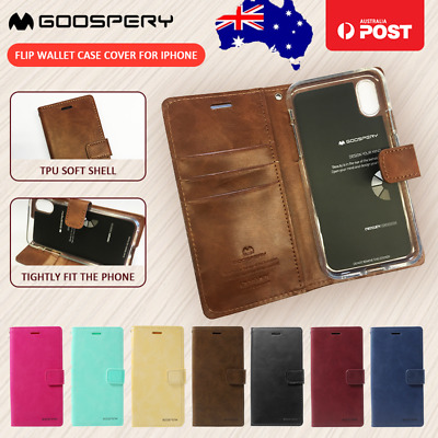 Mercury Goospery Leather Flip Wallet Cover Case Stand for iPhone X XR XS MAX