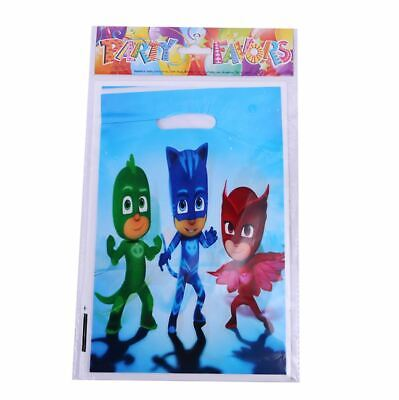 Pack of 10 PJ Masks Birthday Party Decoration Supplies Lolly Loot Bag Favors