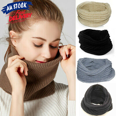 Women Wrap Winter Warmer Circle Girls Snood Cowl Knit Neck Loop Scarf Shawl Warm