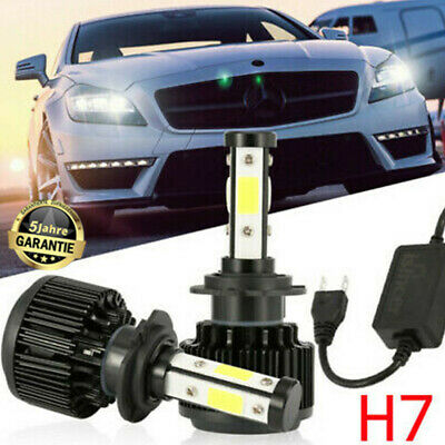 2X H7 LED Auto-Scheinwerfer-Kit 4-seitig Lampen DRL4800W 40000LM Hohes Canbus