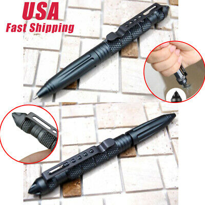 """From US 2* 6""""Aluminum Tactical Pen Glass Breaker Writing Survival Outdoor Pens"""
