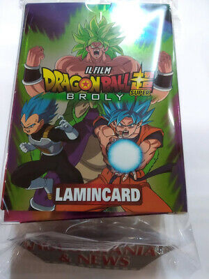 Lamincard Il Film Dragon Ball Super Broly.box 50 Card (10 Special).Completa
