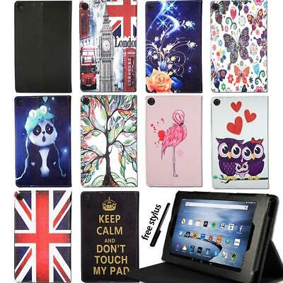 For Amazon Kindle Fire 7/HD 8/HD 10 Alexa Tablet -Smart Leather Stand Cover Case