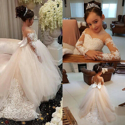 Wedding Flower Girl Dress Holy Communion Party Prom Princess Pageant Dress