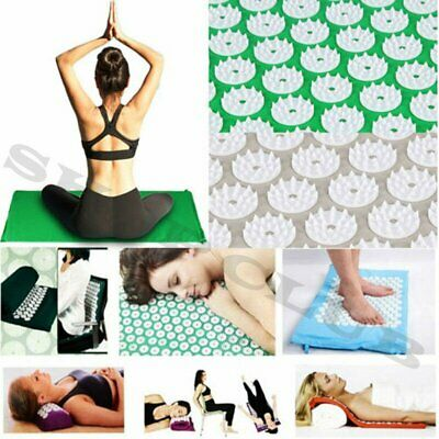 SPZ Massage Acupressure Mat Yoga Shakti Sit Lying Mats Cut Pain Stress KU
