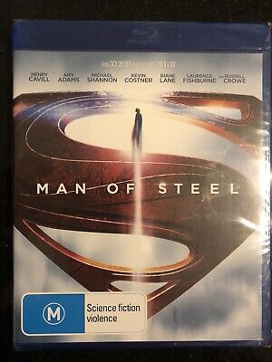 Man Of Steel*****Blu-Ray*****Region B*****New & Sealed