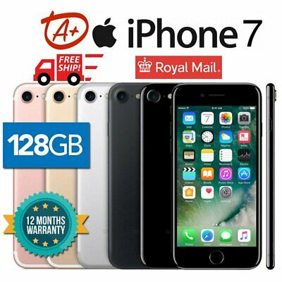 (Grade A+) Apple iPhone 7 128GB 32GB Sim Fee Unlocked Smartphone - All Colour UK