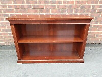 Mahogany  Bookcase. Low, Open, Victorian Style