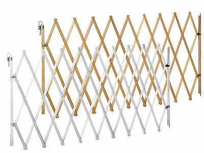 Safety gate for dog LIN XXL 62 - 230 cm white/natural | fence, barrier, animal