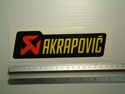AKRAPOVIC decal Motorcycle Fairing belly pan workshop tool box sticker