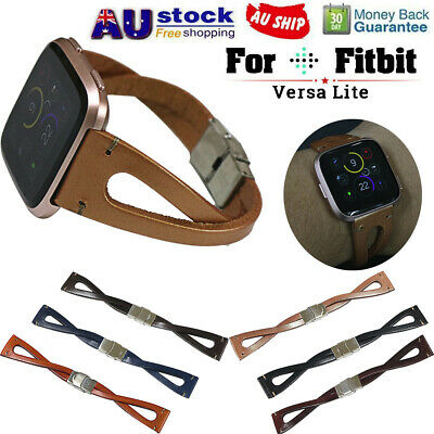 Replacement Leather Wristband Band Strap Bracelet For Fitbit Versa/Versa Lite