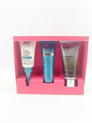 Boots No7 Step Into Spring Skincare Gift Set Eye Cream, Serum, Primer Worth £26