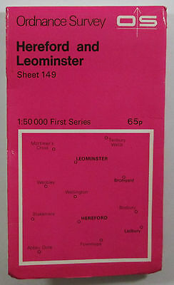 1974 old OS Ordnance Survey 1:50000 First Series Map 149 Hereford & Leominster