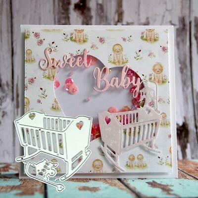 Baby Crib Metal-Cutting Dies Metal Stencil DIY Scrapbooking Album Paper Crafts