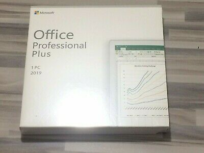 Microsoft Office 2019 Pro Professional Plus DVD Version Boite Scellée Microsoft