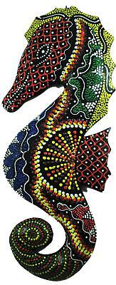Fair Trade Indonesian Balinese Wall Art: Animal Wooden Carving. Seahorse 30cm