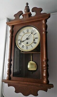 German Made Hermle Westminster Chime Pendulum Wind-Up Movement Wall Clock
