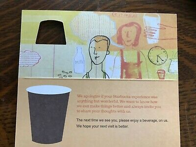 25x 2006 Starbucks Coffee Recovery Gift Card Certificate Free Drink Coupon